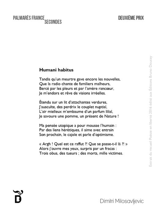 Humani habitus écrit par Dimitri Milosavljevic
