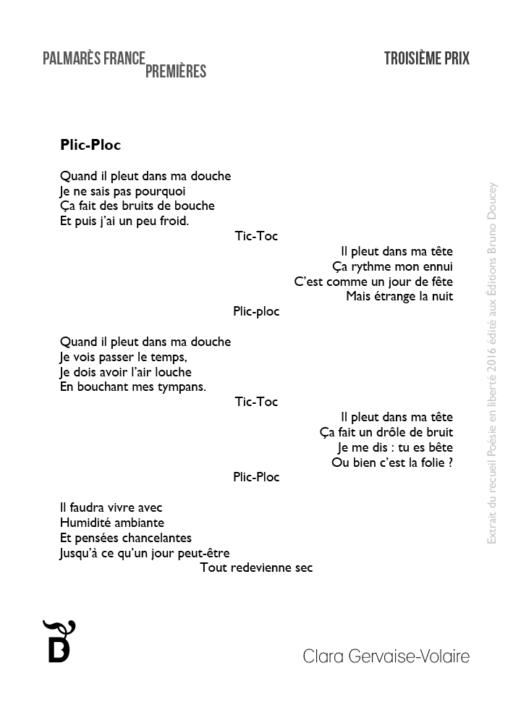 Plic-Ploc écrit par Clara Gervaise-Volaire