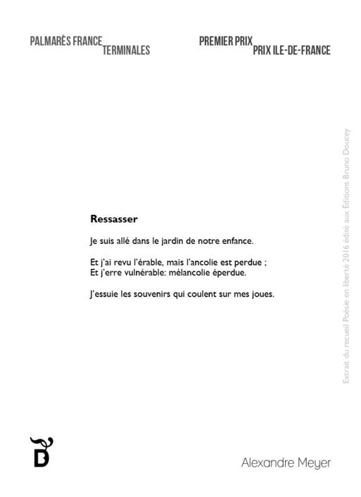 Ressasser écrit par Alexandre Meyer