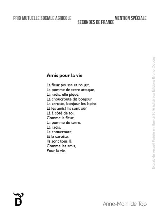 Amis pour la vie écrit par Anne-Mathilde Top