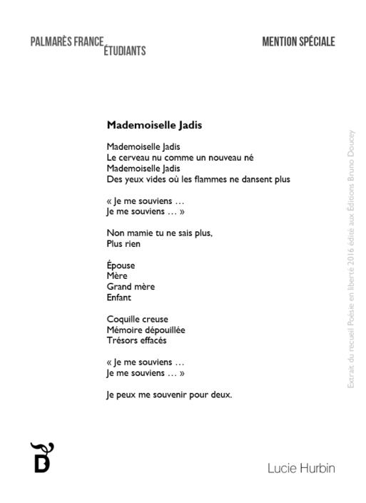 Mademoiselle Jadis écrit par Lucie Hurbin