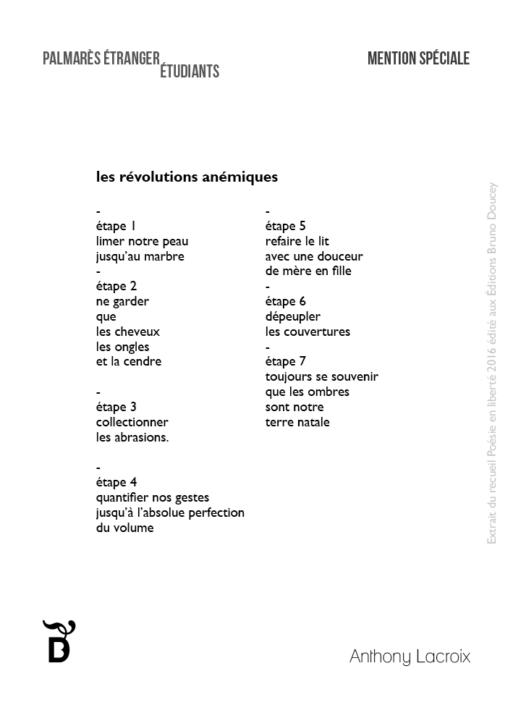 Les Révolutions anémiques écrit par Anthony Lacroix
