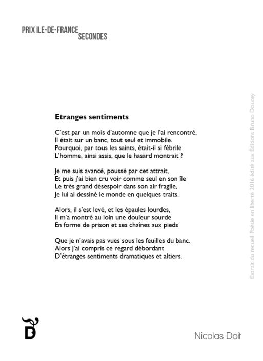 Etranges sentiments écrit par Nicolas Doit