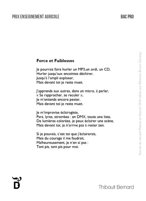 Force et Faiblesses écrit par Thibault Bernard