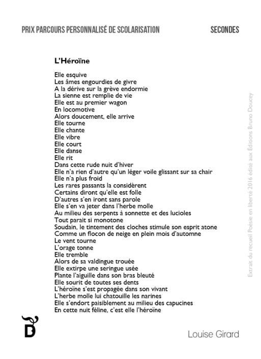 L'Héroïne écrit par Louise Girard