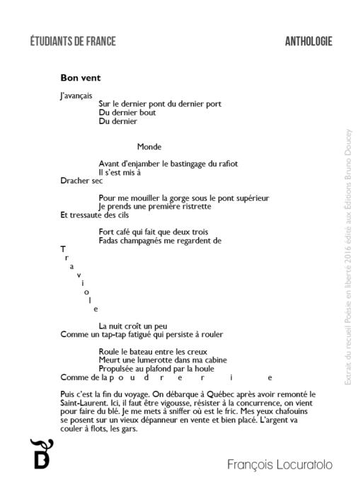 Bon vent écrit par François Locuratolo
