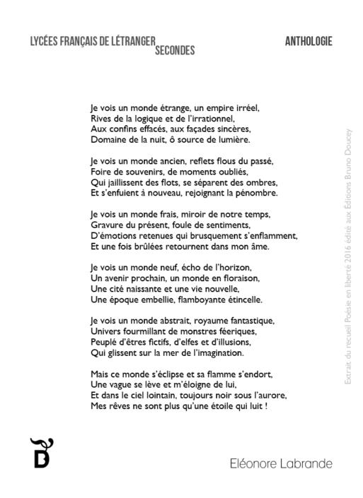 Je vois un monde étrange écrit par Eléonore Labrande