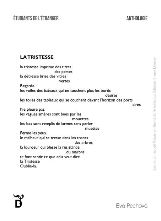 La Tristesse écrit par Eva Pechová