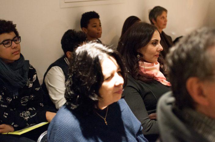 Dans le public, lycéens et professeurs de La Salle St Nicolas
