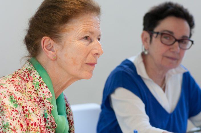 Colette Nys-Mazure et Nicole Simonet