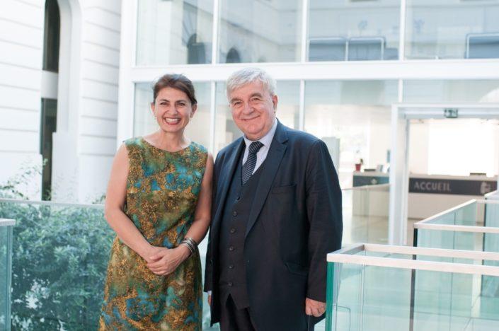 Dominique Pince-Salem, du Ministère de l'Education nationale et Jean-Marc Muller, Président