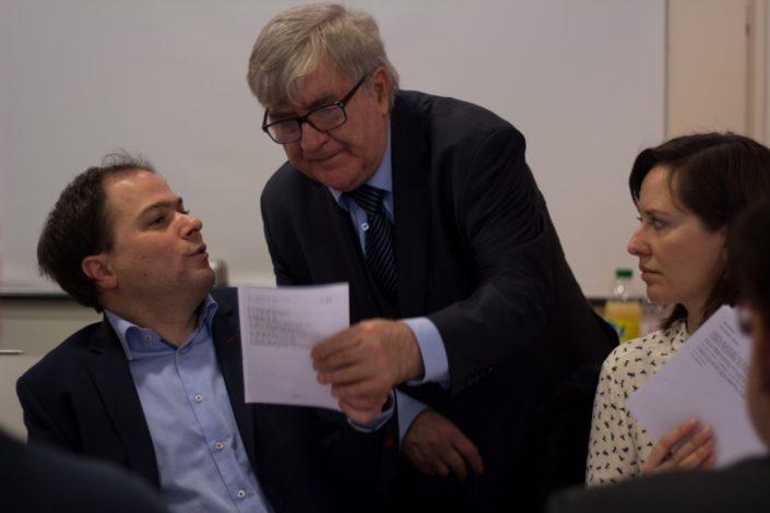 Jean-Marc Muller, Président, Matthias Vincenot, Directeur artistique et Marion Vandekerchove, membre de l'équipe.