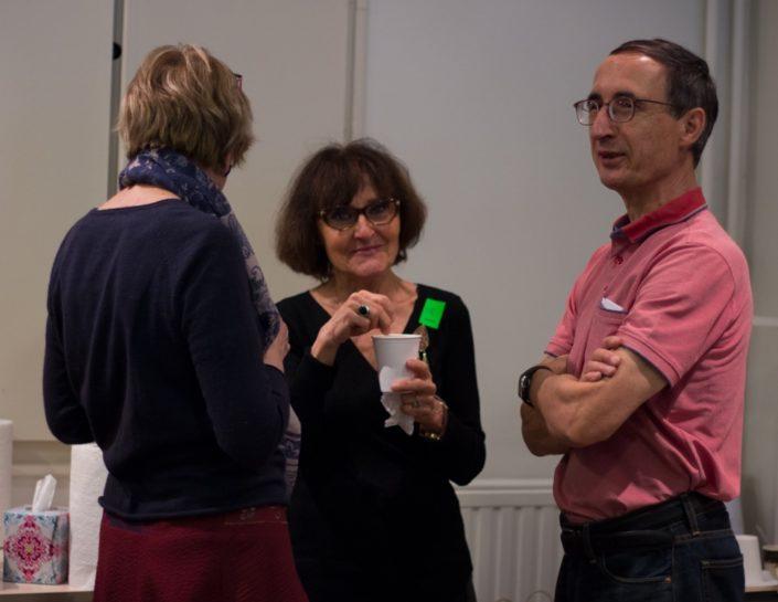 L'équipe, Rose Séguignes, Secrétaire générale avec son adjointe Elisabeth Jouhaud et Gilles Tabard, Vice-Président