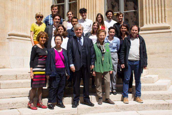 le Jury 2017 du concours au Ministère de l'Education nationale avec Dominique Pince-Salem (2ème rang à droite)