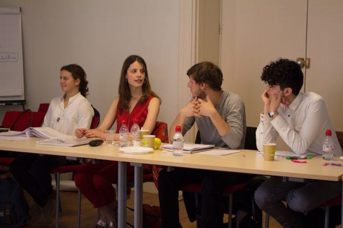 Fanny Guillot Salomon, Camille Pech de Laclause, Romuald Thonney et Ignacio Guzman