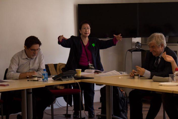 Guy Féret, Chargé de mission, Yen Kuan, Attachée de Direction et Jean-Marc Muller, Président