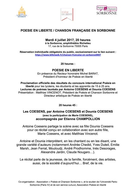 4 juillet à la Sorbonne