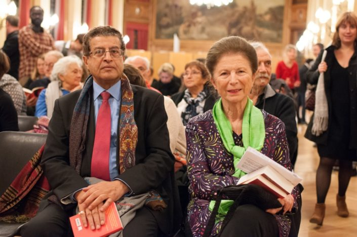 Colette Nys-Mazure, Présidente du Jury 2017 et Mojeb Al-Zahrani, Directeur général de l'Institut du Monde Arabe IMA