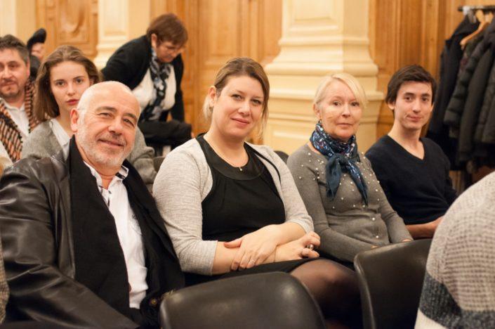 Les Rueillois Daniel et Mélanie Dumont, famille d'accueil, Hélène et Florian Kuan