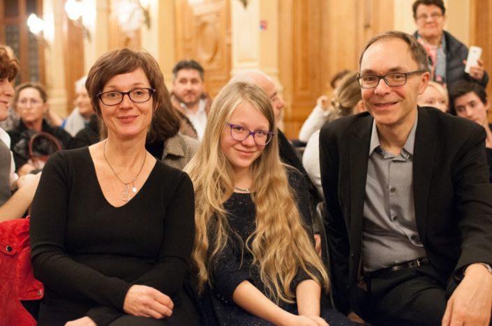 Louise et ses parents venus de Saint André de Sangonis (34)