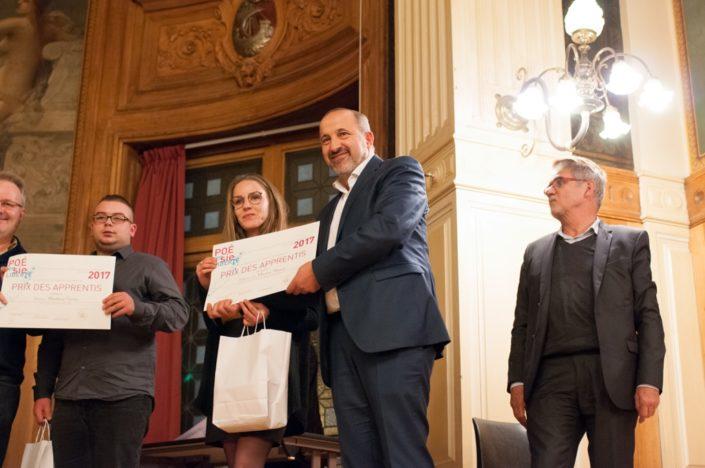 Prix Région Île-de-France, palmarès des apprentis : Marion Hanat, UTEC Couvent des Cordelières à Provins (77) avec Rabah Kaabeche, Directeur général d'AKOR