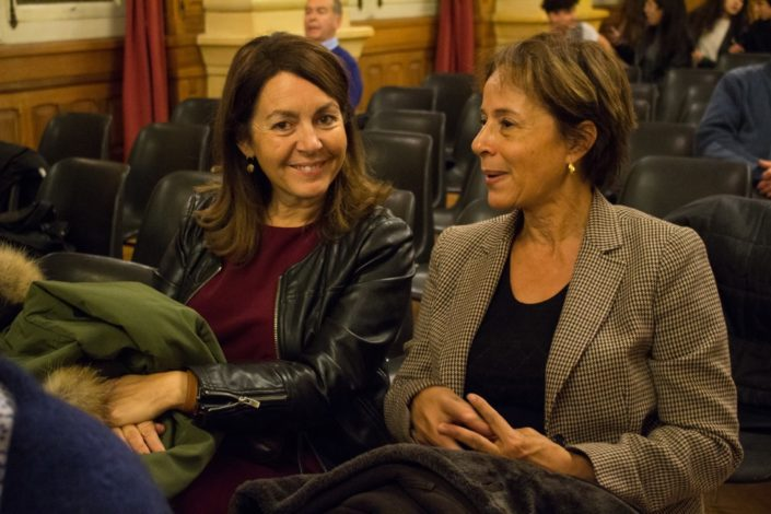 Elisabeth Batier, membre du Comité de lecture et Madame Michèle Martin, Proviseur du Lycée Charles Péguy à Orléans (45)