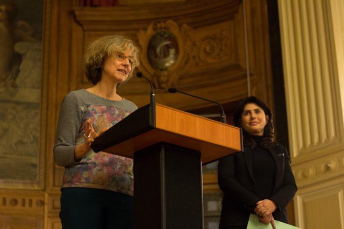 Marie-Carole Ciuntu, Vice-Présidente chargée des lycées au Conseil Régional d'Île-de-France et Manon Laporte, Conseillère régionale d'Ile-de-France