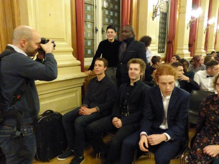 Assis : Martin Boillat de Metz, Alexandre Coste de Moscou, Olivier Jolicoeur de Montréal. Debouts : Ignacio Guzman et Carl Withsler A. Benoit