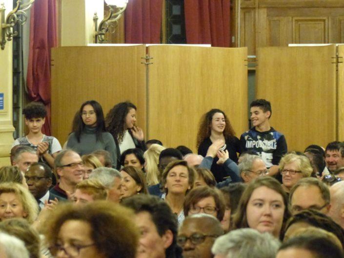 Des membres du Conseil Communal des Jeunes de la Ville d'Issy les Moulineaux, parrains du Jury 2017