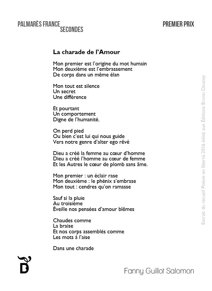 La Charade de l'Amour écrit par Fanny Guillot Salomon.