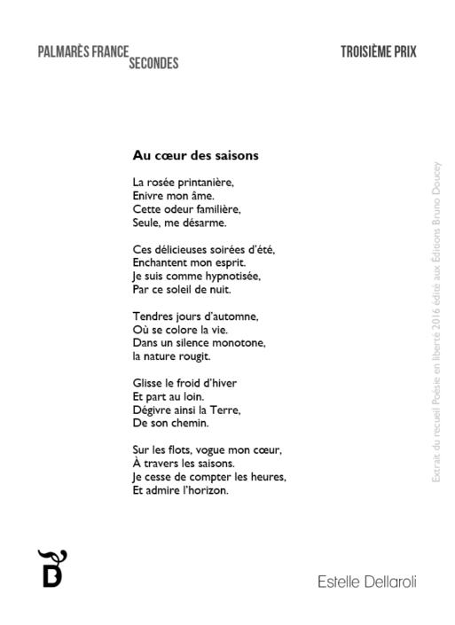 Au cœur des saisons écrit par Estelle Dellaroli