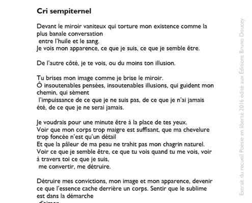 Cri sempiternel écrit par Ignacio Guzman Arnaldi