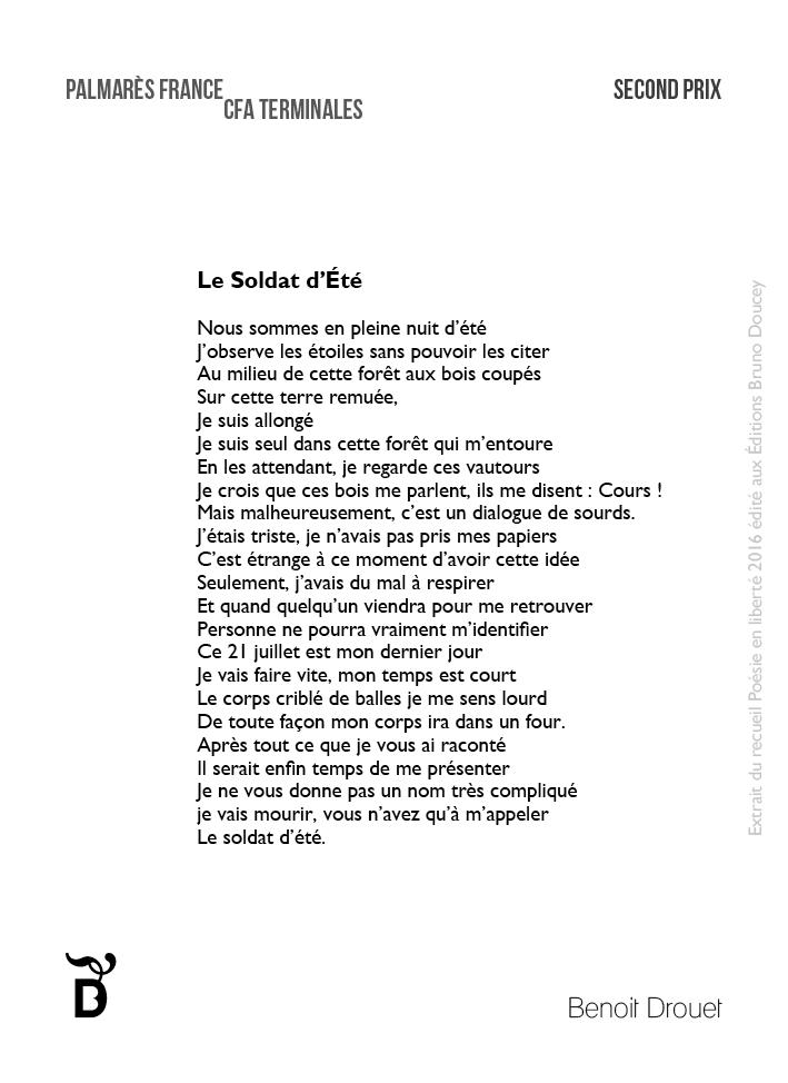 Le Soldat d'Été écrit par Benoit Drouet