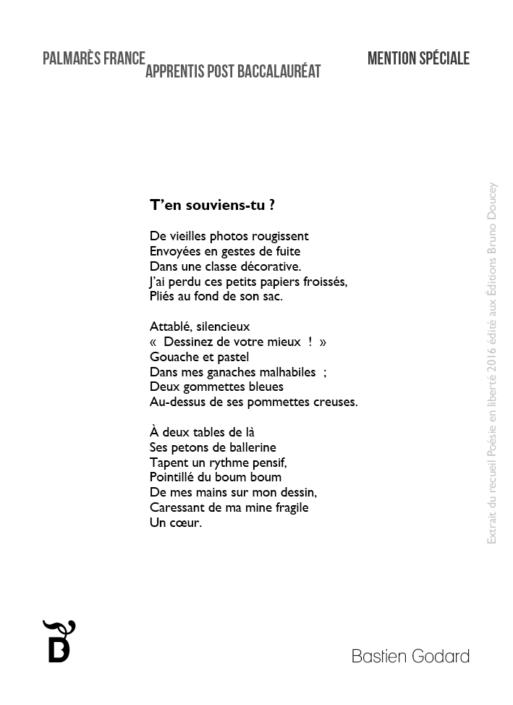 T'en souviens-tu ? écrit par Bastien Godard