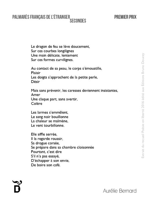 Le dragon de feu écrit par Aurélie Bernard