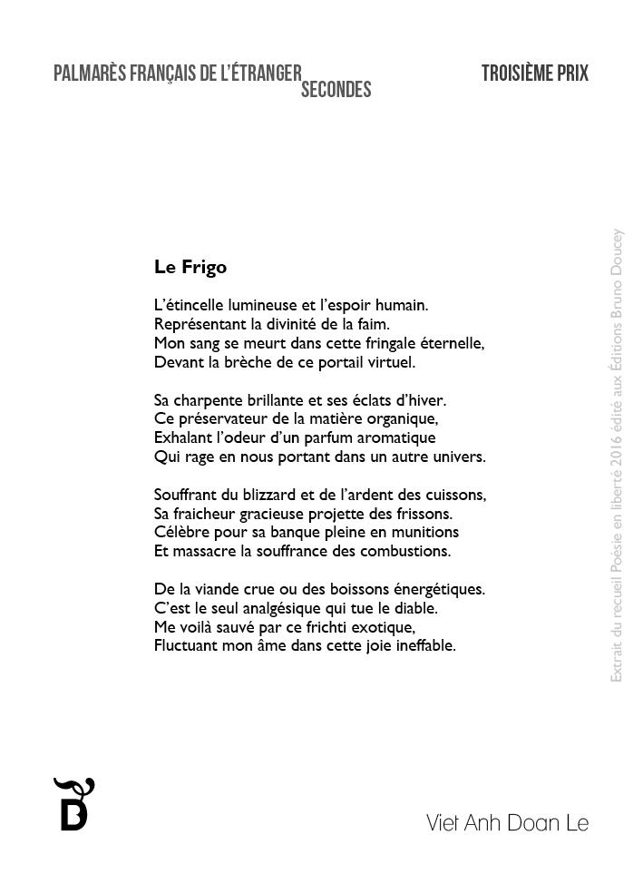 Le Frigo écrit par Viet Anh Doan Le