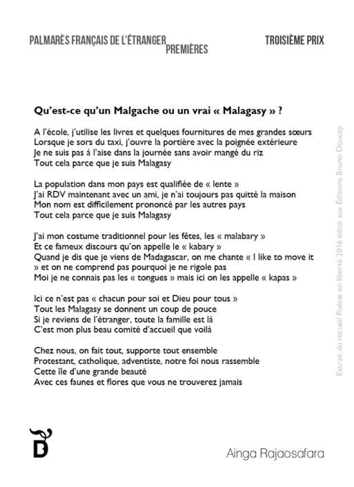 """Qu'est-ce qu'un Malgache ou un vrai """"Malagasy"""" ? écrit par Ainga Rajaosafara"""