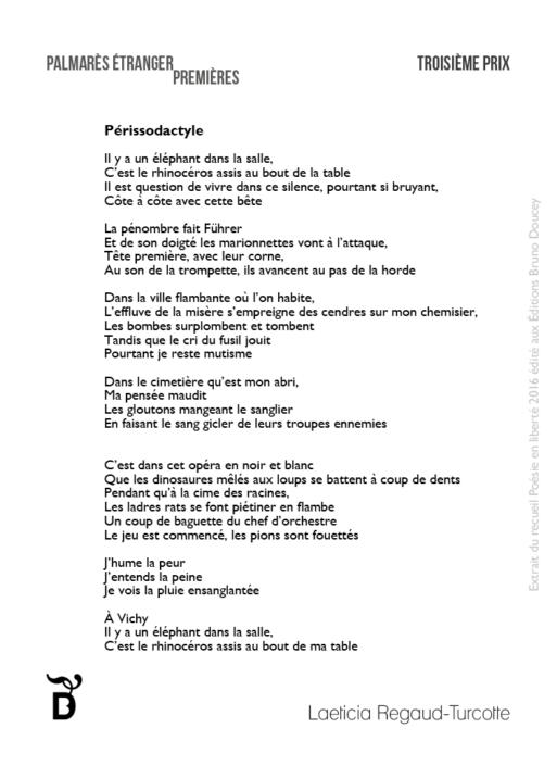 Périssodactyle écrit par Laeticia Regaud-Turcotte