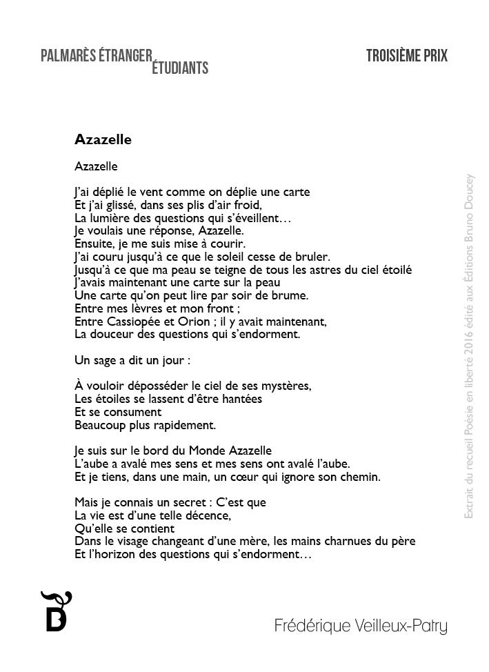 Azazelle écrit par Frédérique Veilleux-Patry