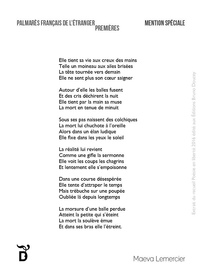 Elle tient sa vie écrit par Maeva Lemercier