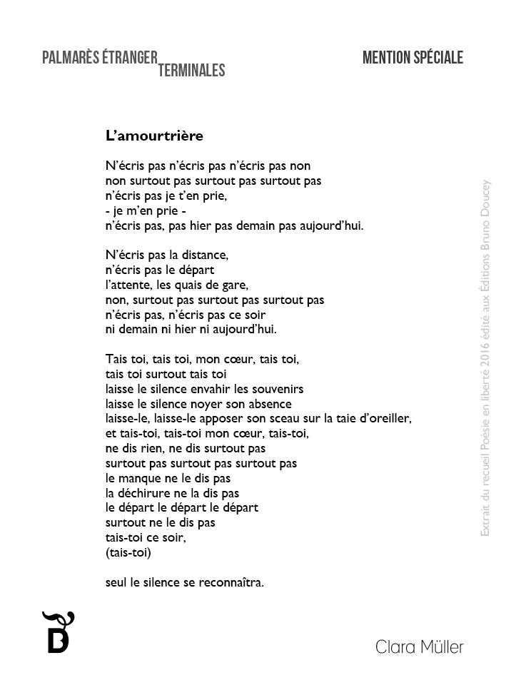 L'Amourtrière écrit par Clara Müller