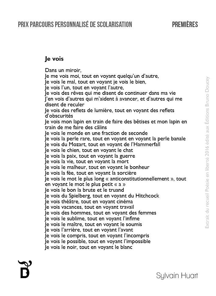 Je vois écrit par Sylvain Huart