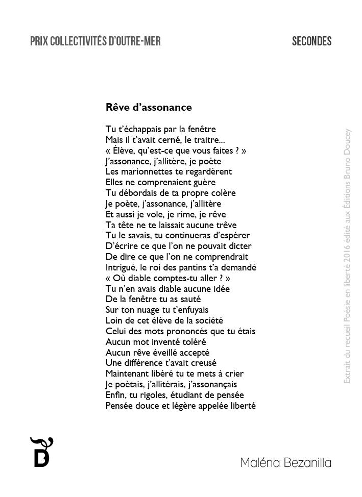 Rêve d'assonance écrit par Maléna Bezanilla