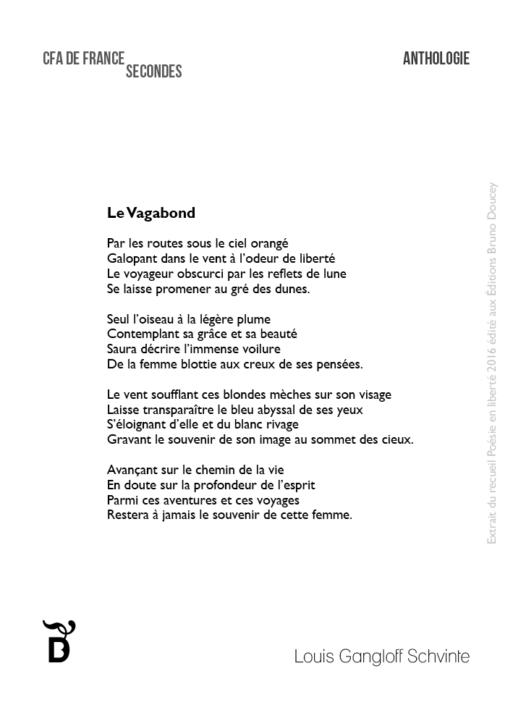Le Vagabond écrit par Louis Gangloff Schvinte
