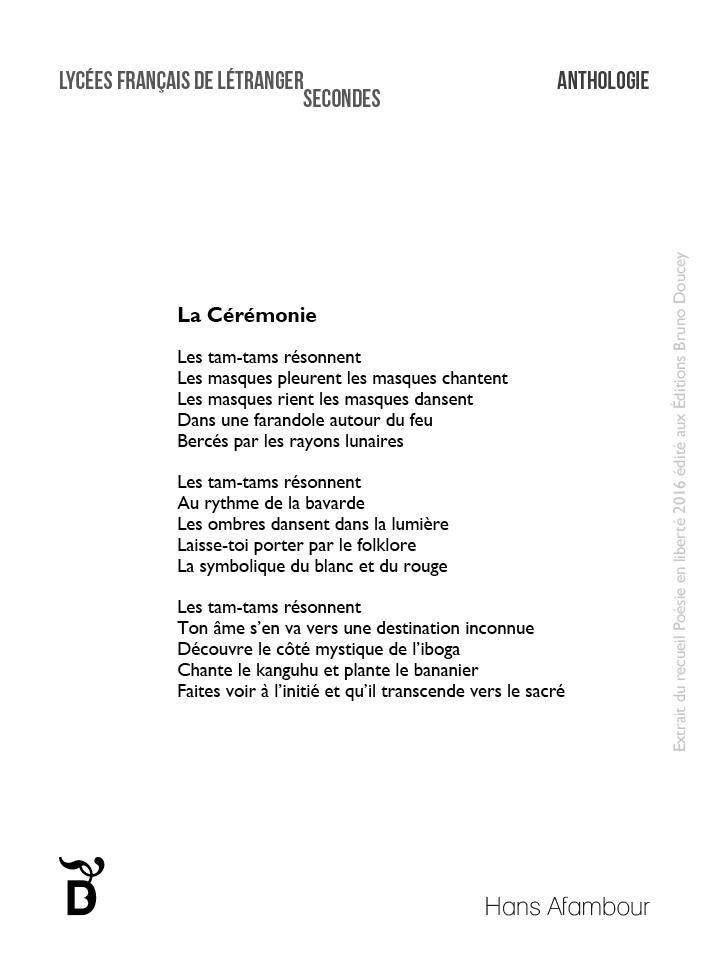 La Cérémonie écrit par Hans Afambour