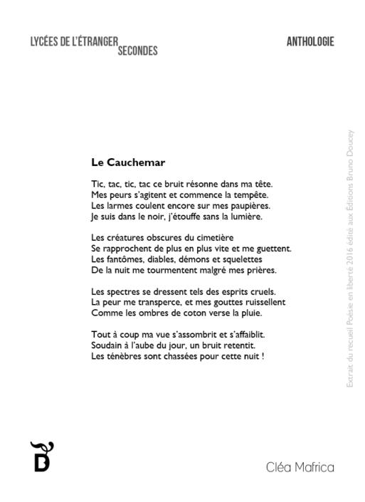 Le Cauchemar écrit par Cléa Mafrica