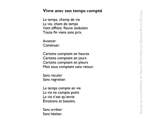 Vivre avec son temps compté écrit par Hippolyte Audet-Lagacé