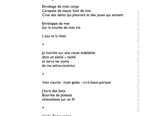 Évangile écrit par Billie-Anne Leduc