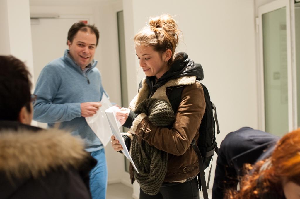 La comédienne Coline Beal et Matthias Vincenot, Directeur artistique
