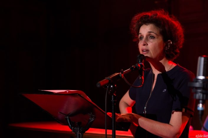 La comédienne Muriel Combeau